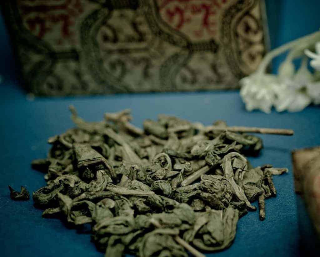 Chinese green gunpowder loose tea