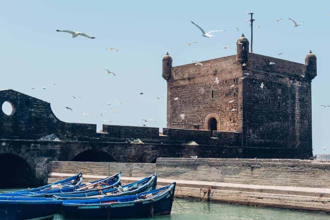 Essaouira historical ramparts and gorgeous coast