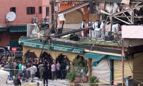 Marrakech cafe terrorist attack in Morocco 2011