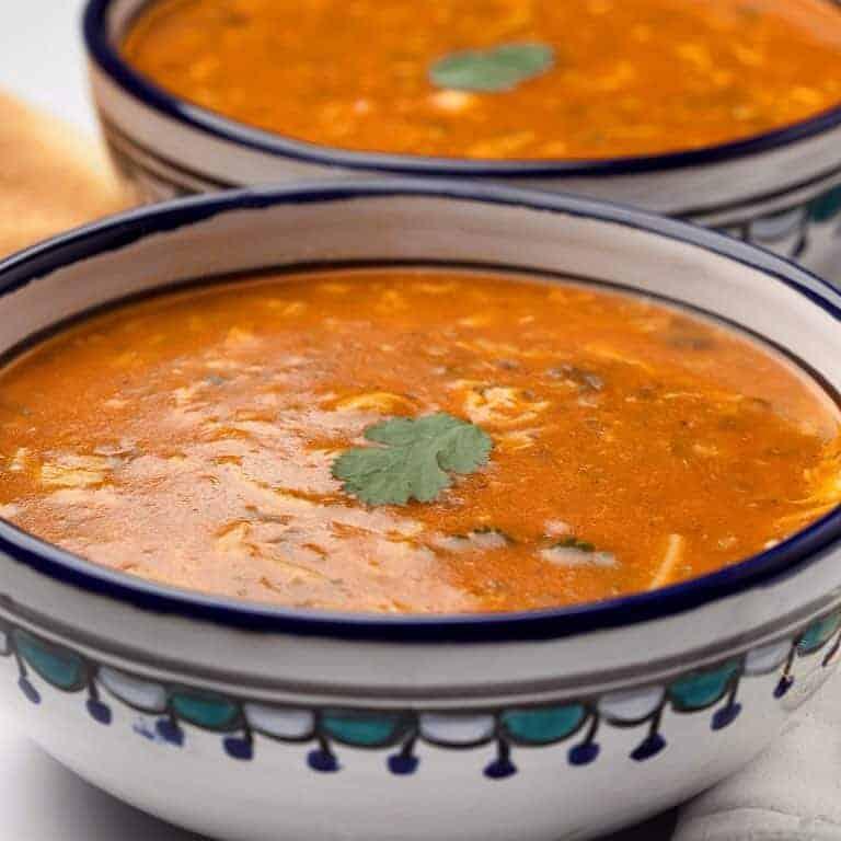 Moroccan harira bowl