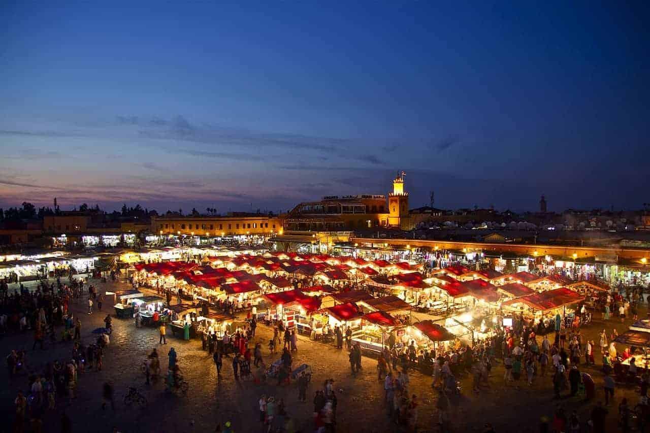 Visiting Marrakech medina Morocco