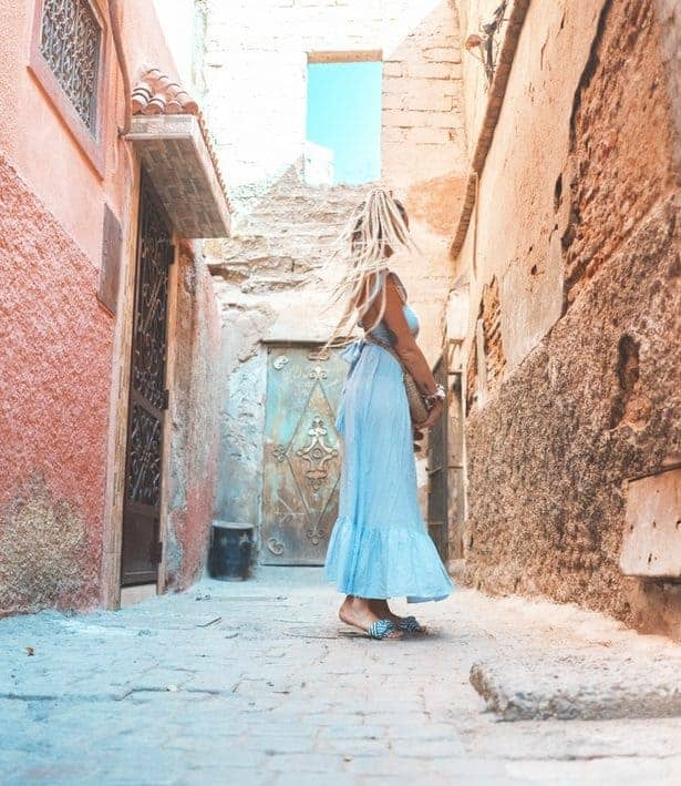 Woman wearing dress in Morocco