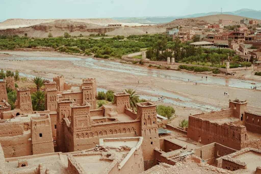 air benhaddou desert