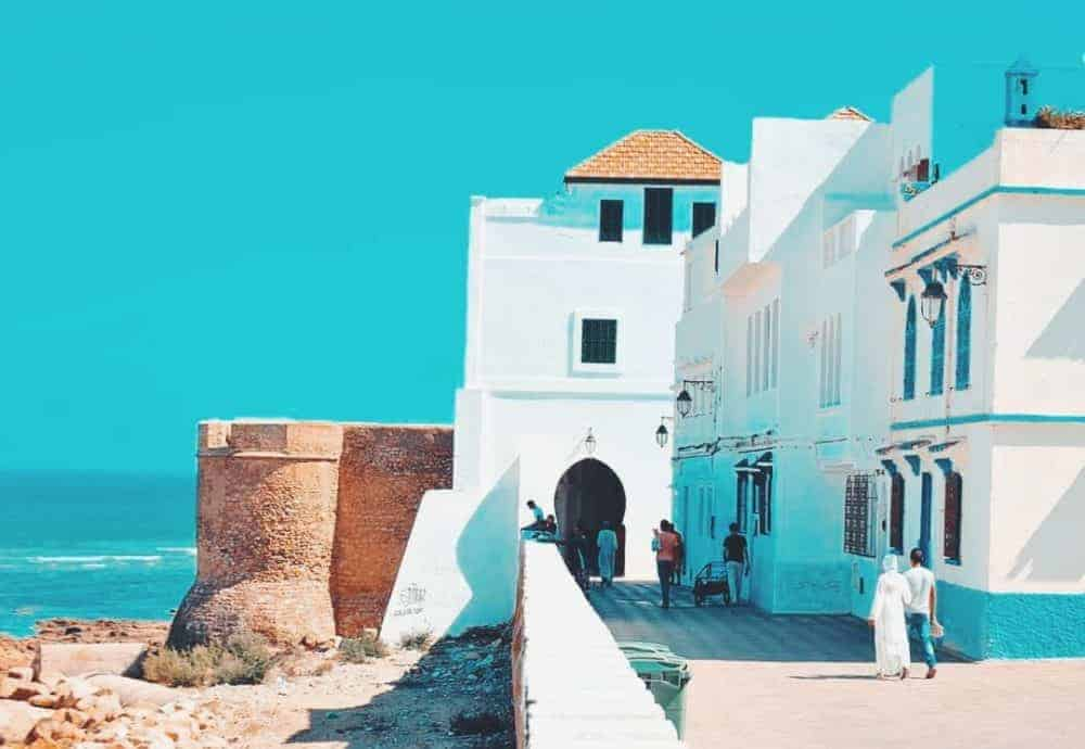 Asilah calm coast and historical medina