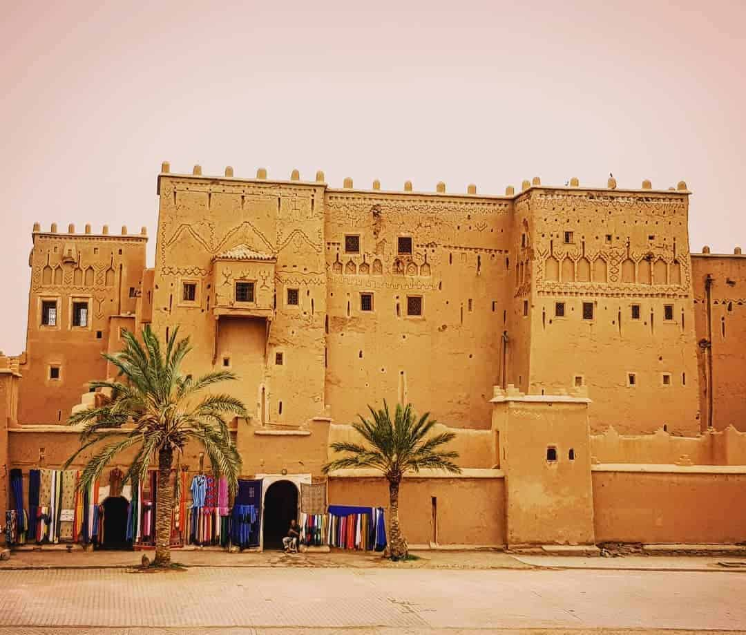 The gorgeous Kasbah taourirt in Ouarzazate Morocco desert