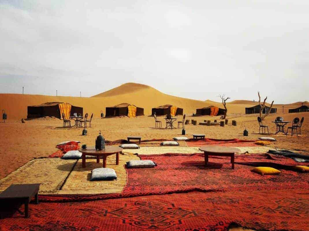Local camp in Morocco desert