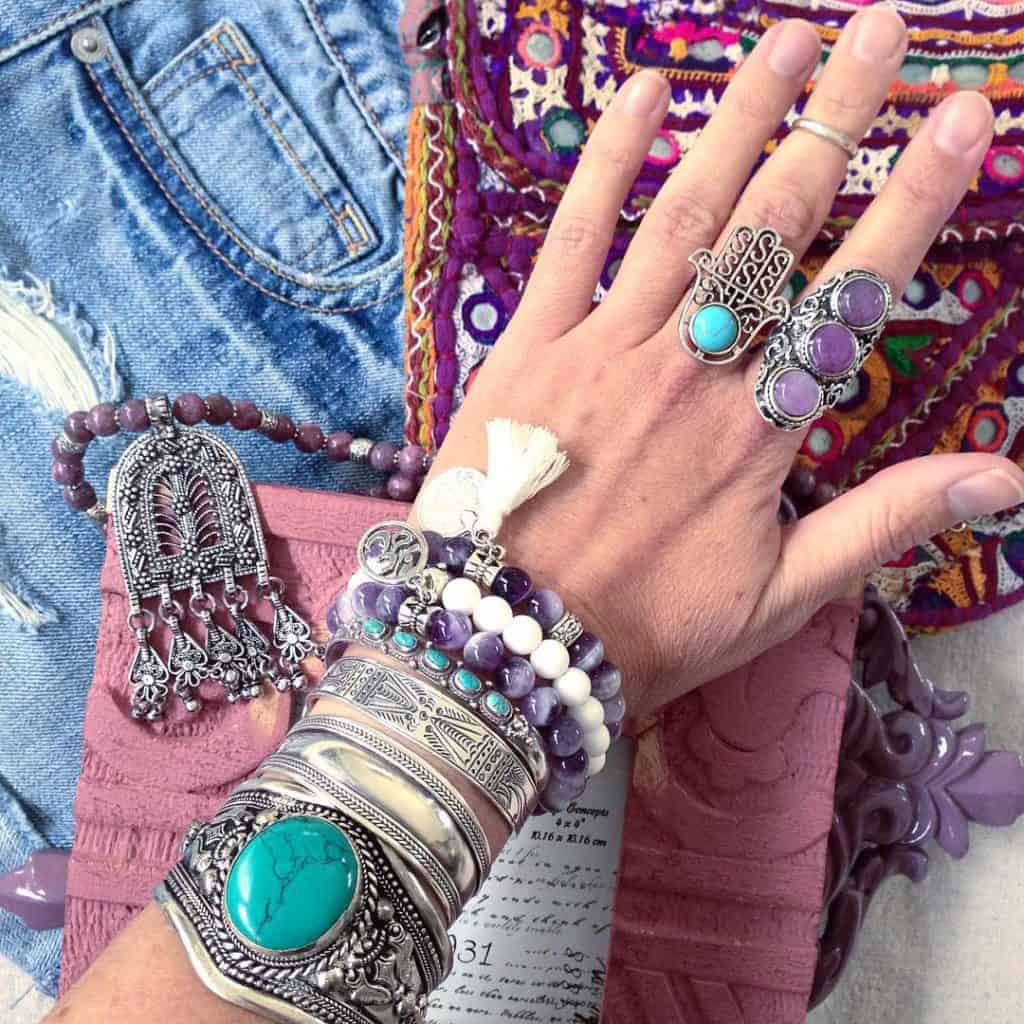 Moroccan jewelry bracelets and rings
