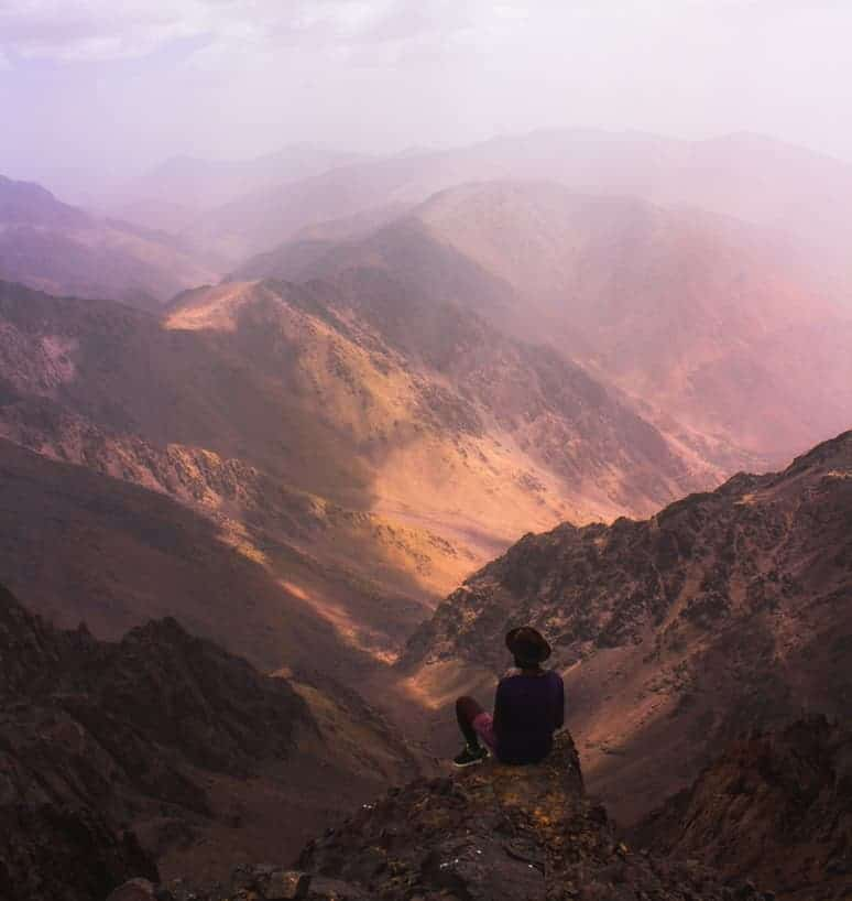 stunning view from the top of atlas mountains morocco