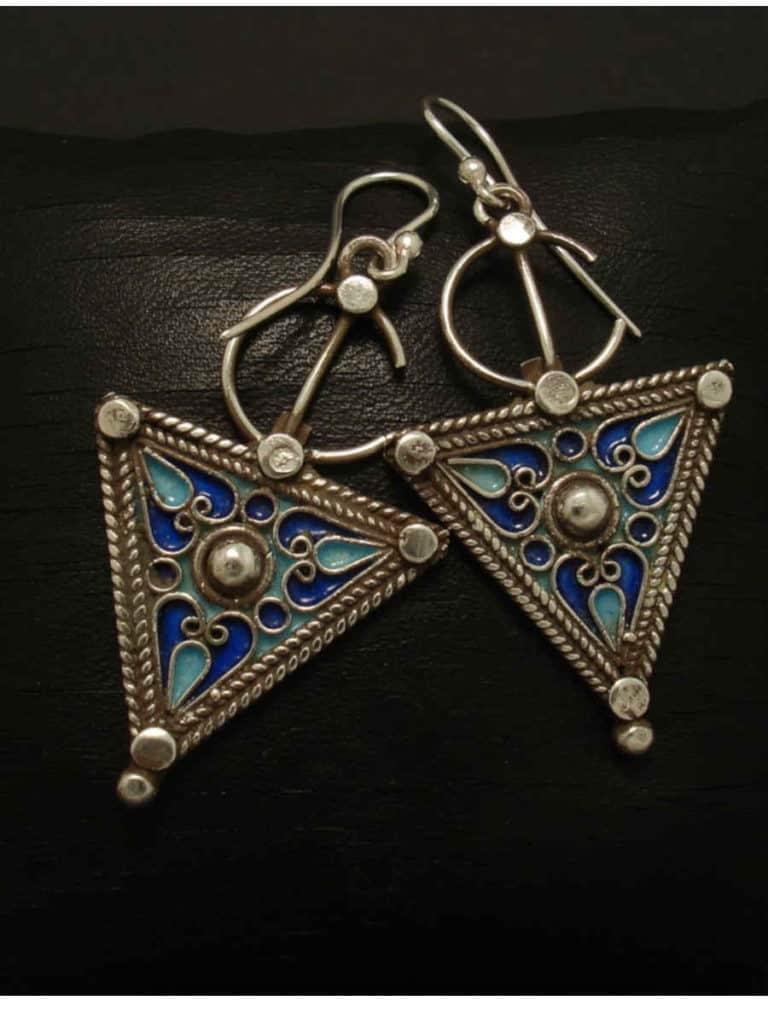 Beautiful Moroccan silver earrings