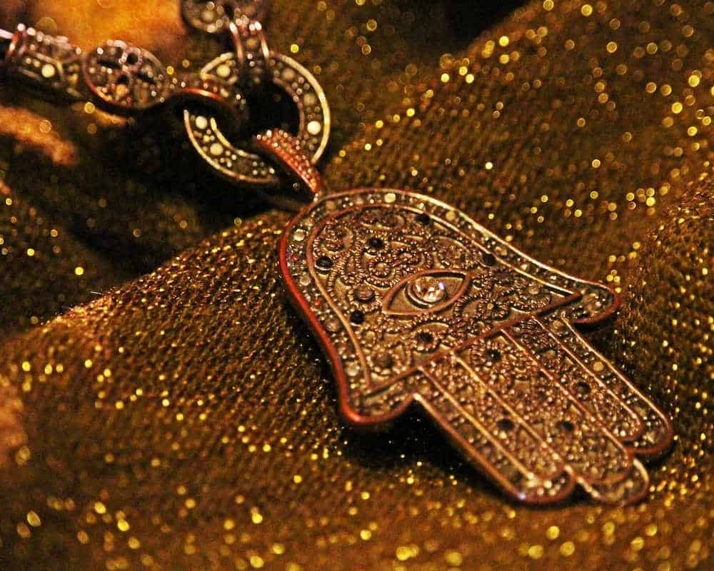 Moroccan jewelry golden necklace