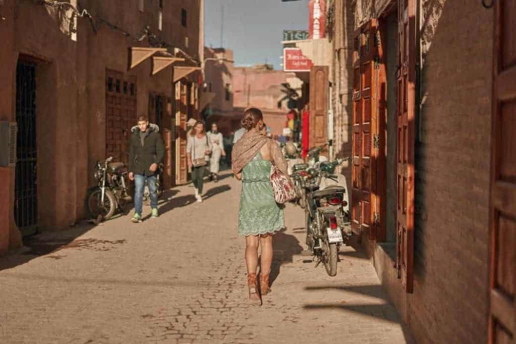 woman wearing short dress Morocco