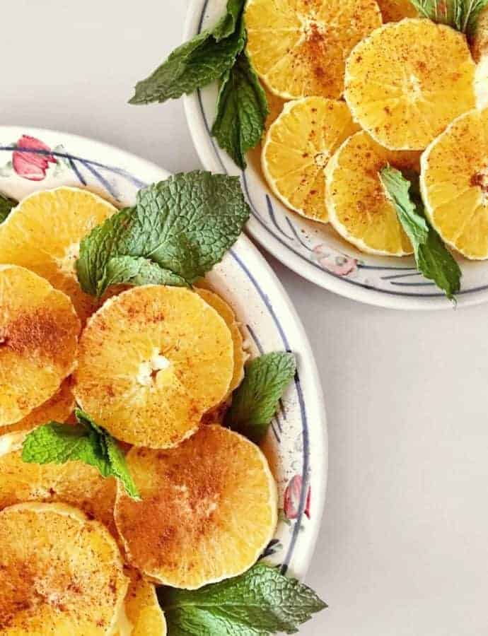 Best Orange Desserts: Moroccan Orange Salad