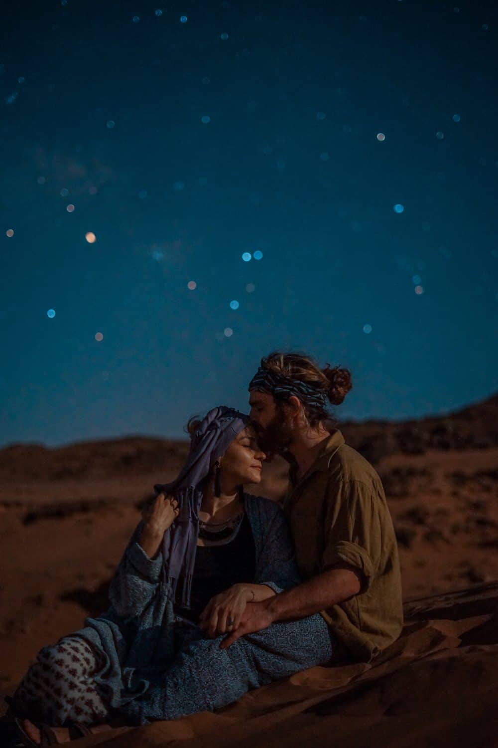 romantic date under the stars in the Moroccan desert