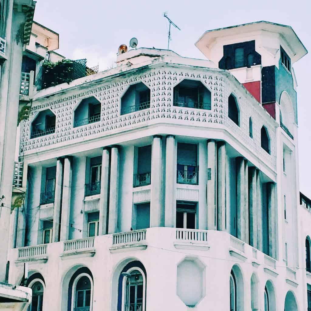 Famous Moroccan building casablanca