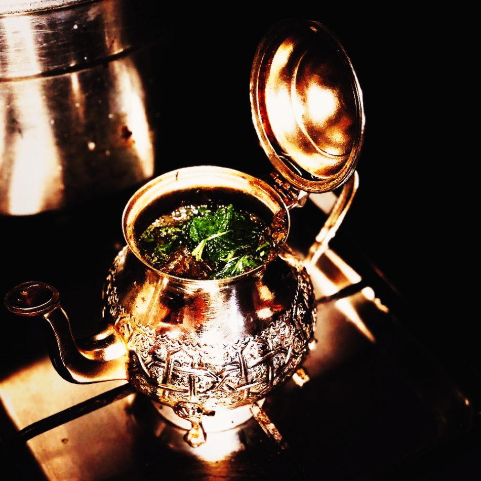 Moroccan tea kettle