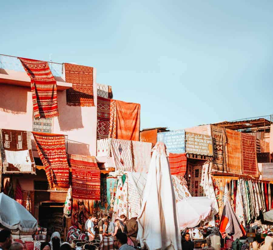 Shopping Moroccan rugs Moroccan market