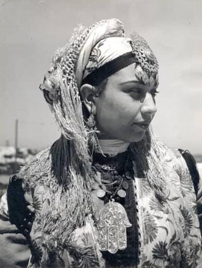 jewish vintage hamsa necklace