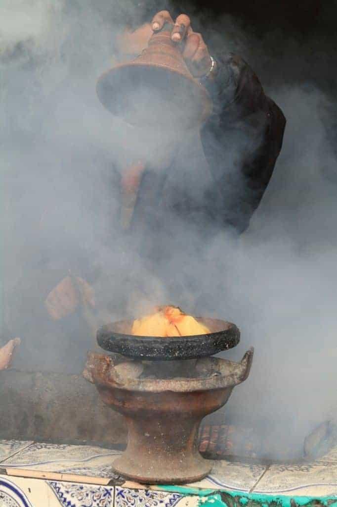 Moroccan tagine pot on brazier