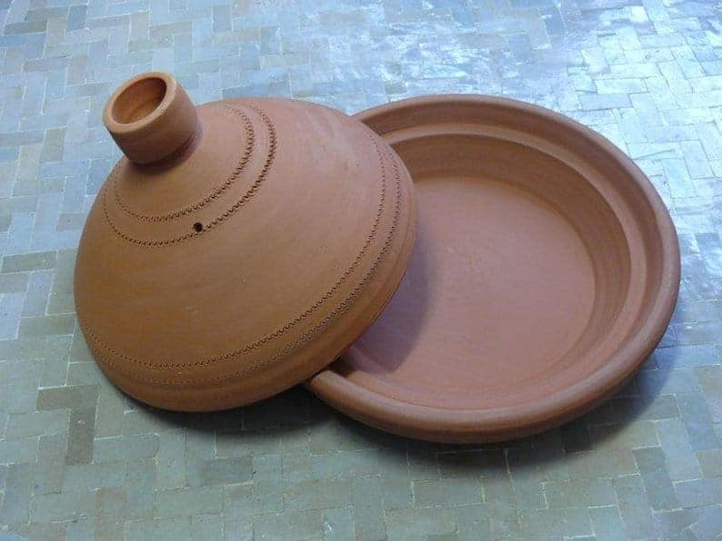 unglazed Moroccan tagine pot