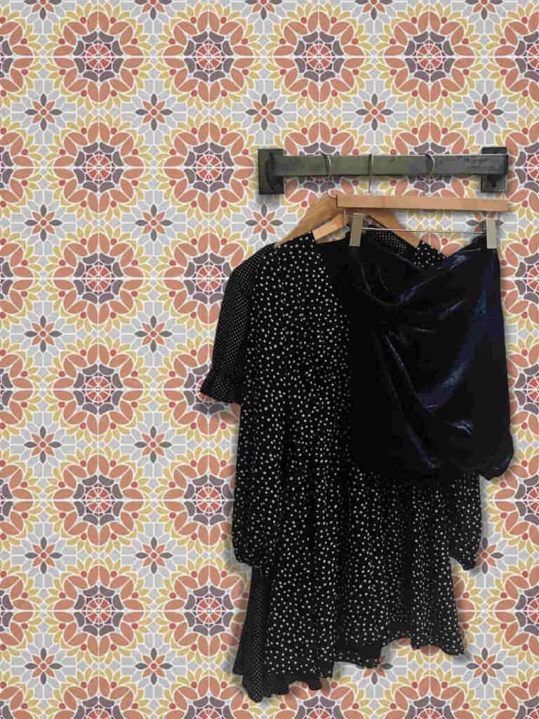 moroccan wallpaper closet