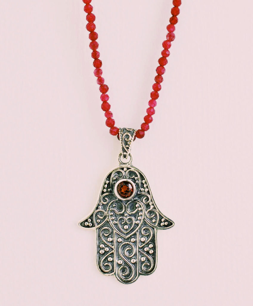 antique silver hamsa design