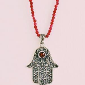 moroccan hamsa necklace