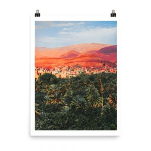 Morocco print ait benhaddou