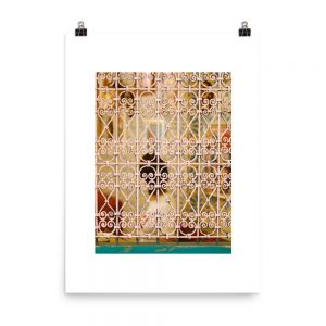 Moroccan window print