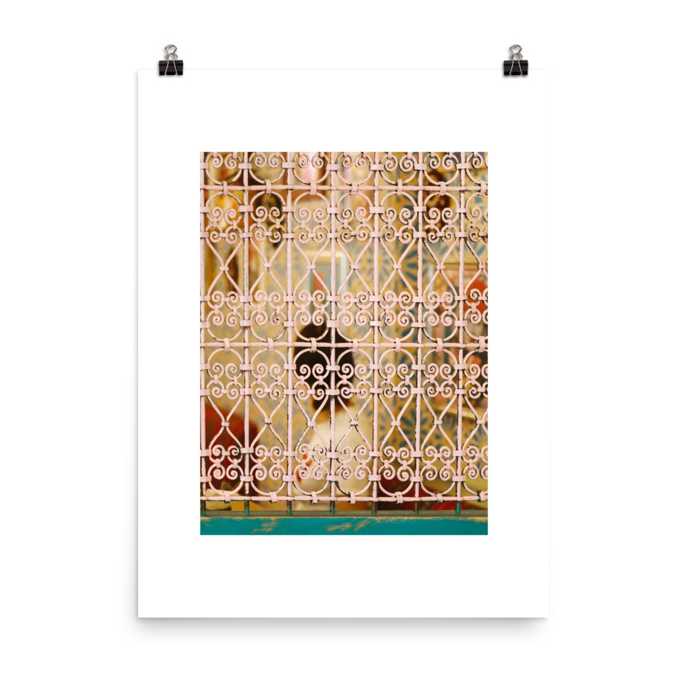 Moroccan window print