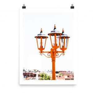 Morocco print marrakech lamp