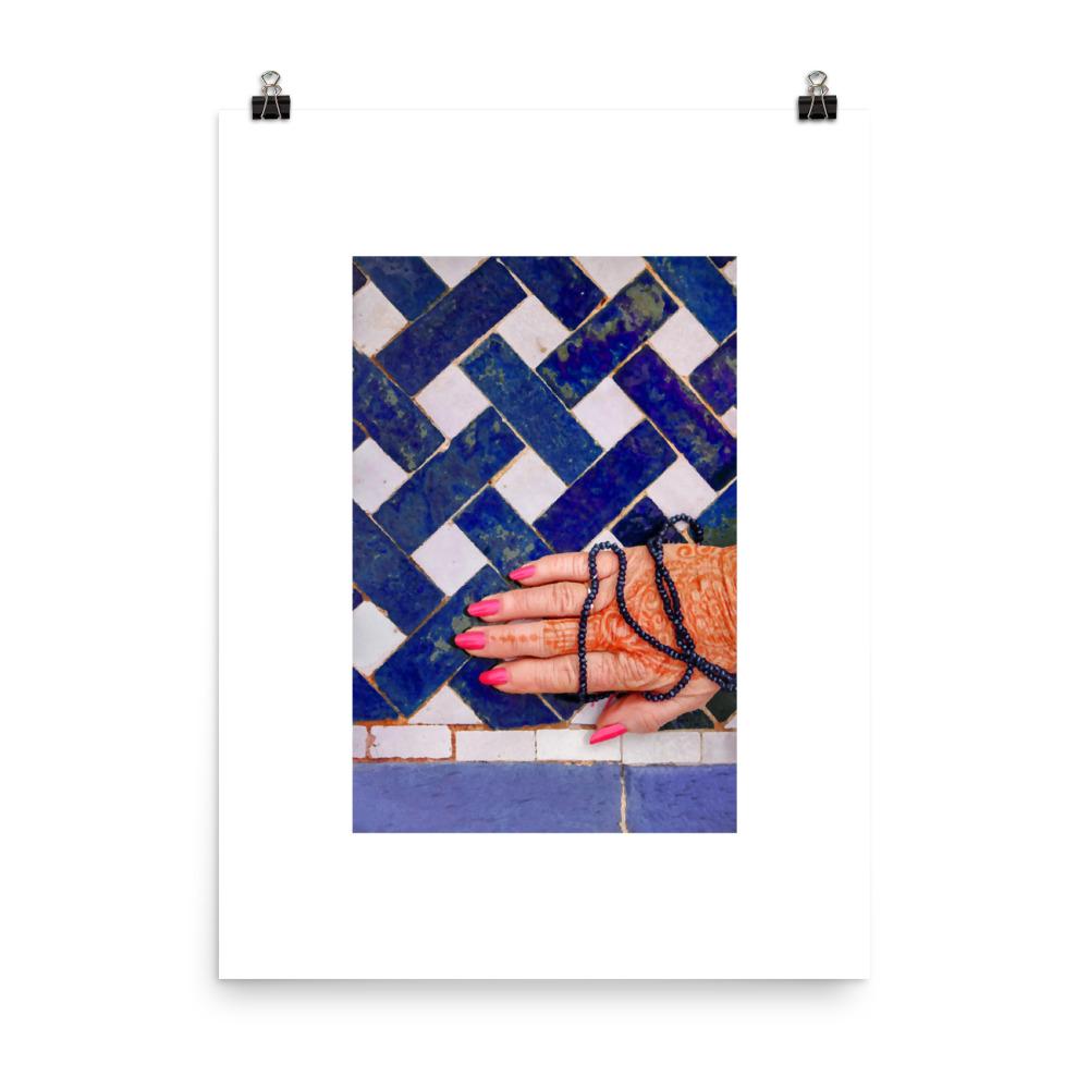 Moroccan print tiles