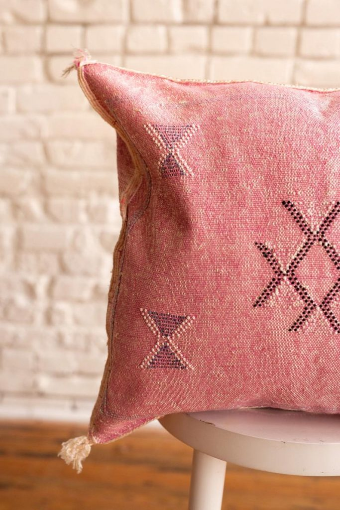 Moroccan cushion cactus silk