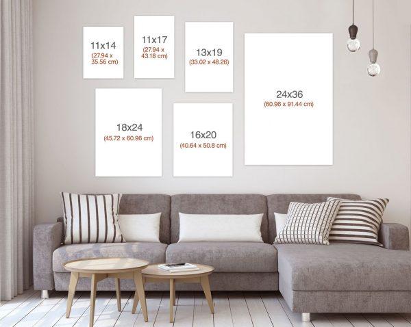 morocco print sizes