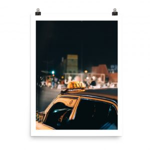 Morocco print taxi marrakech