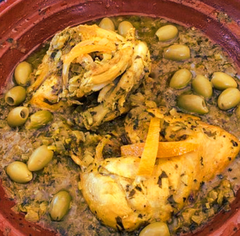 Moroccan chicken lemon tagine recipe