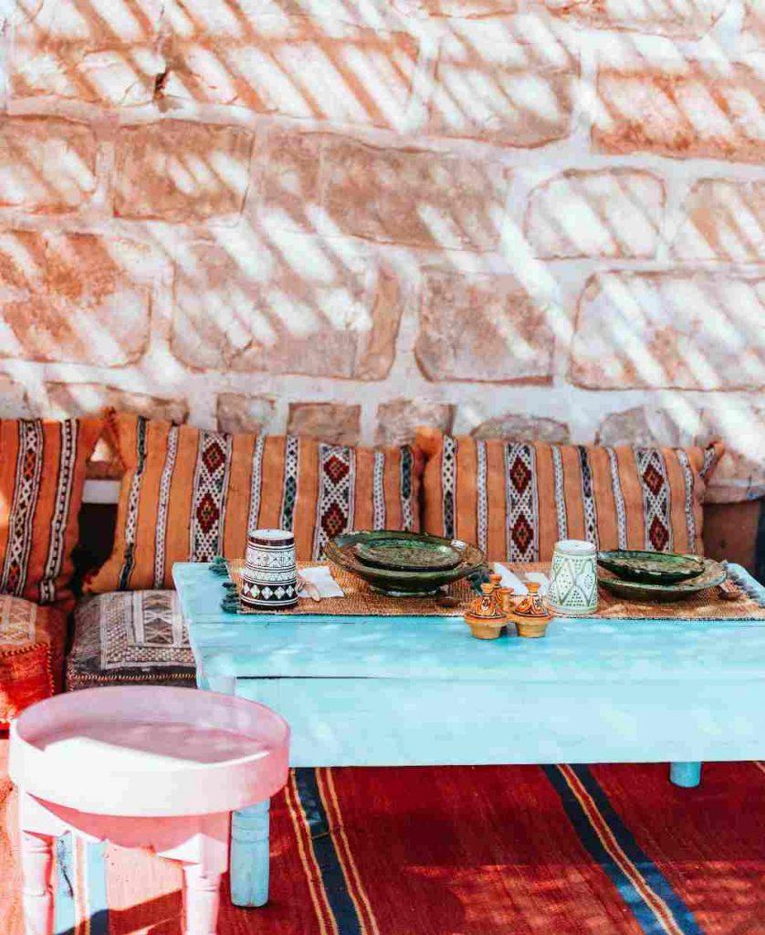moroccan outdoor decor setup