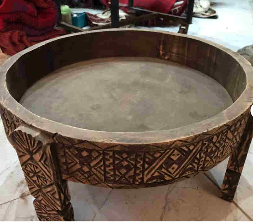 moroccan wooden table