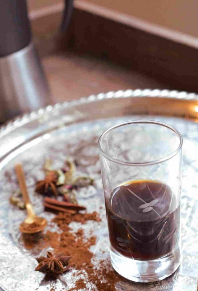 Moroccan coffee spicy recipe