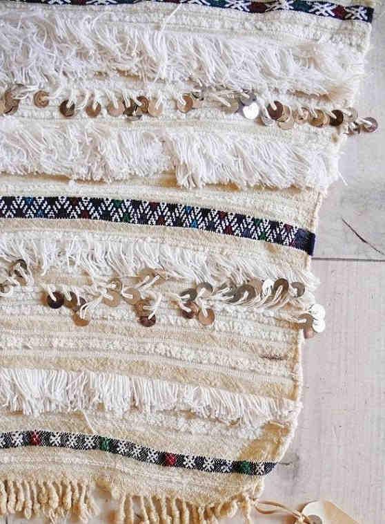 Moroccan wedding blanket with Kilim