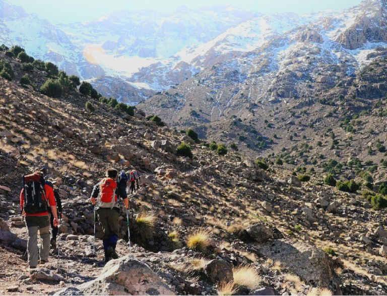 climbing the toubkal mount