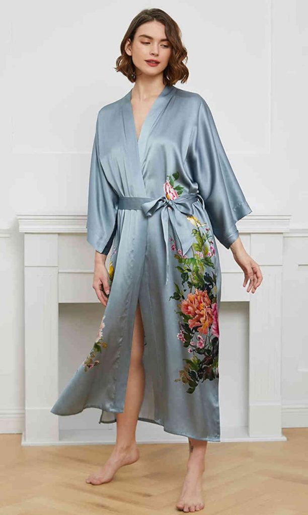 Silk robe for bride to be