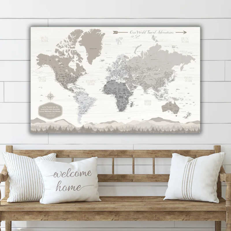gifts for brides to be travel map